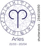 zodiac sign   aries.... | Shutterstock .eps vector #256010050