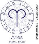 zodiac sign   aries.... | Shutterstock .eps vector #256010050
