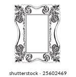 illustration of a retro frame | Shutterstock .eps vector #25602469