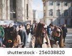 milan  italy   february 25 ...   Shutterstock . vector #256038820