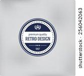 retro logo template elements.... | Shutterstock .eps vector #256042063