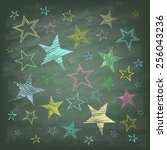 Set Of Hand Drawn Stars On The...