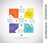 template for diagram  graph ... | Shutterstock .eps vector #256046434