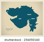 modern map   gujarat in | Shutterstock .eps vector #256050160