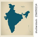 modern map   india in | Shutterstock .eps vector #256050214