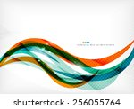 green and orange lines modern... | Shutterstock . vector #256055764