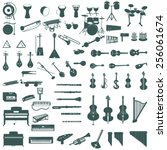 different music instruments | Shutterstock .eps vector #256061674