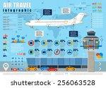 vector air travel infographic...   Shutterstock .eps vector #256063528