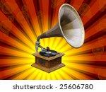 old gramophone   Shutterstock . vector #25606780