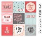 thank you  love you  good luck... | Shutterstock . vector #256071460