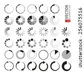 34 black and grey loading icons ... | Shutterstock .eps vector #256075516