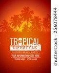 tropical lifestyle summer beach ...