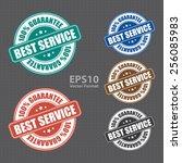 vector   best service 100 ... | Shutterstock .eps vector #256085983