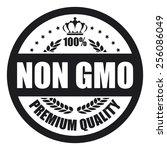 black non gmo premium quality... | Shutterstock . vector #256086049