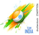illustration of cricket ball in ...   Shutterstock .eps vector #256097056