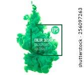 vector abstract cloud. ink... | Shutterstock .eps vector #256097263