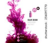vector abstract cloud. ink... | Shutterstock .eps vector #256097770