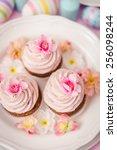 easter cupcakes | Shutterstock . vector #256098244