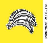 bananas outline vector... | Shutterstock .eps vector #256118140