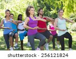 Fitness Group Doing Tai Chi In...