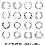 laurel wreaths vector collection | Shutterstock .eps vector #256122838