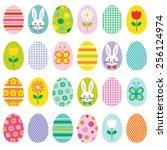 easter eggs | Shutterstock .eps vector #256124974