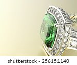 ring with diamond. jewelry... | Shutterstock . vector #256151140