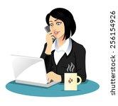 vector secretary illustration   Shutterstock .eps vector #256154926