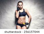 Attractive Fitness Woman With...