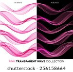 vector set of color transparent ... | Shutterstock .eps vector #256158664