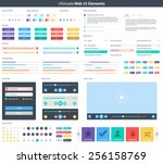 ultimate web ui elements   ui... | Shutterstock .eps vector #256158769