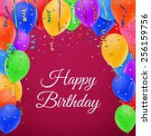celebration background with... | Shutterstock .eps vector #256159756