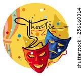 theatre masks | Shutterstock .eps vector #256160314