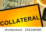 word collateral on tablet.... | Shutterstock . vector #256168480