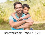 father and son in the...   Shutterstock . vector #256171198