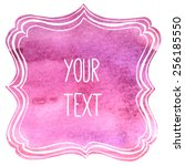 text frame with watercolor... | Shutterstock .eps vector #256185550