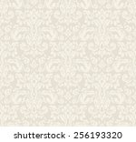 beige seamless vintage floral... | Shutterstock .eps vector #256193320