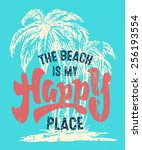 'beach Is My Happy Place'...