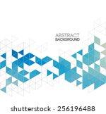 vector abstract retro geometric ... | Shutterstock .eps vector #256196488