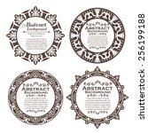 vector set of design elements ... | Shutterstock .eps vector #256199188