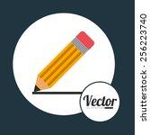 pencil icon design  vector... | Shutterstock .eps vector #256223740