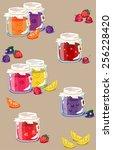 vector seamless pattern ... | Shutterstock .eps vector #256228420