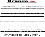 set of grunge brush strokes | Shutterstock .eps vector #256240540