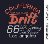 drift graphic for t shirt design | Shutterstock .eps vector #256242658