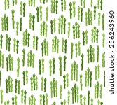 seamless pattern with asparagus   Shutterstock .eps vector #256243960