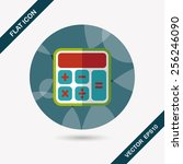 calculator flat icon with long... | Shutterstock .eps vector #256246090