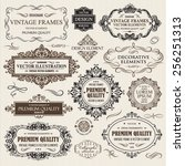 vector vintage collection ... | Shutterstock .eps vector #256251313