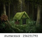 Little House Of Moss In An...