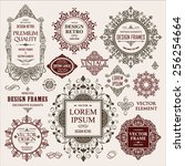 vector vintage collection ... | Shutterstock .eps vector #256254664