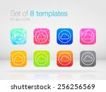 set of 8 bright templates for...